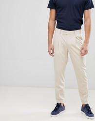 ASOS DESIGN cigarette leg suit trousers in stone - Stone