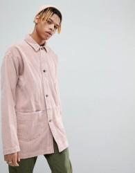 ASOS DESIGN cord worker jacket in pink - Pink