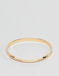 ASOS DESIGN Cuff bracelet with sleek hinge - Gold