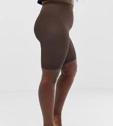 ASOS DESIGN Curve anti-chafing shorts - Brown