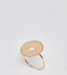 ASOS DESIGN Curve ring with circle filigree design in gold - Gold