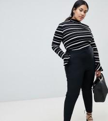 ASOS DESIGN Curve ultimate ankle grazer trousers - Black