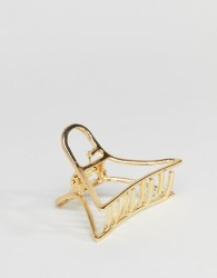 ASOS DESIGN cut out metal hair clip - Gold
