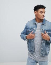 ASOS DESIGN denim jacket in mid blue wash - Blue