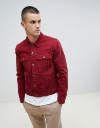 ASOS DESIGN denim jacket in red - Red