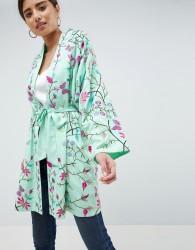 ASOS DESIGN Embroidered Kimono - Green