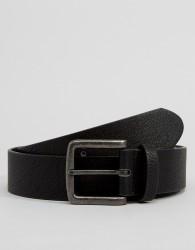 ASOS DESIGN faux leather wide belt in black - Black