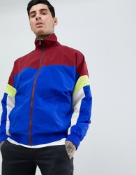 ASOS DESIGN festival windbreaker in colour block - Red