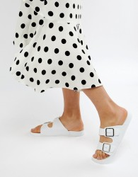 ASOS DESIGN Flax Jelly Flat Sandals - White