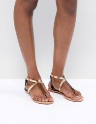 ASOS DESIGN Forbes Leather Flat Sandals - Multi