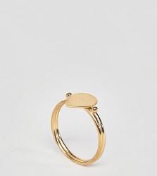ASOS DESIGN Gold Plated Sterling Silver Sleek Teardrop Ring - Gold