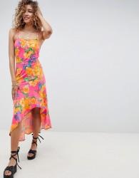ASOS DESIGN hi lo hem cami maxi dress in bright floral - Multi