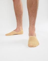 ASOS DESIGN Invisible Liner Socks In Fair Skintone - Beige