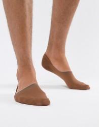 ASOS DESIGN Invisible Liner Socks In Medium Skintone - Tan