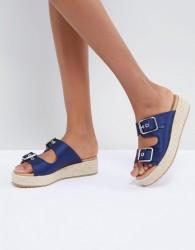 ASOS DESIGN Jacques Premium Espadrille Sandals - Blue