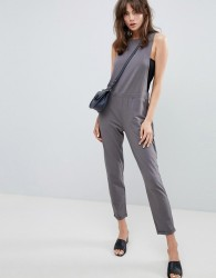 ASOS DESIGN jersey dungaree - Grey