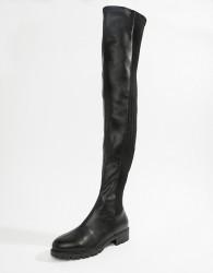 ASOS DESIGN Krista chunky thigh high boots - Black