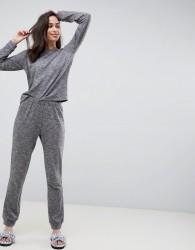 ASOS DESIGN Lounge sweat and jogger set - Grey