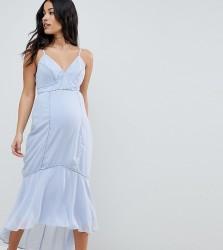 ASOS DESIGN Maternity cami midi dress with lace Insert - Multi
