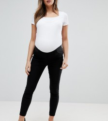 ASOS DESIGN Maternity high waist trousers in skinny fit - Black