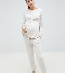 ASOS DESIGN Maternity Jogger - Cream