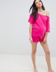 ASOS DESIGN Maternity Lounge Raw Edge Short - Pink