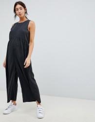 ASOS DESIGN Maternity minimal jumpsuit with ruching detail - Grey