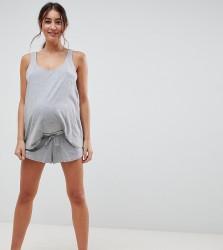 ASOS DESIGN Maternity Mix & Match Pyjama jersey Short - Grey