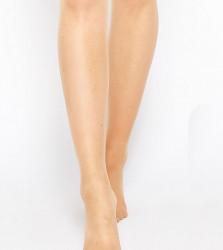 ASOS DESIGN Maternity new improved fit 15 denier tights in golden bronze - Beige