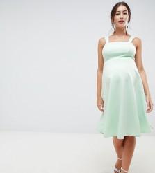 ASOS DESIGN Maternity square neck prom dress - Green