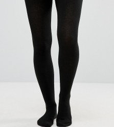 ASOS DESIGN Maternity supersoft tights with supportive panel - Black
