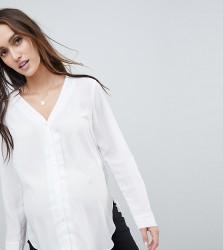 ASOS DESIGN Maternity v neck blouse - White