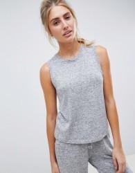 ASOS DESIGN mix & match lounge super soft brushed tank - Grey
