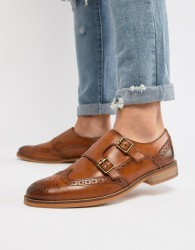 ASOS DESIGN Monk Shoes In Tan Leather With Natural Sole - Tan