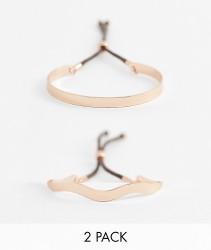 ASOS DESIGN multipack bracelet in toggle rope design - Copper