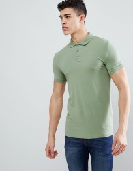 ASOS DESIGN Muscle Fit Polo In Jersey - Green