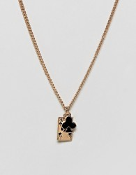 ASOS DESIGN Necklace In Gold With Playing Card Pendants - Gold