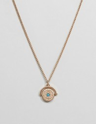 ASOS DESIGN Necklace In Gold With Spinner And Stone Detail - Gold