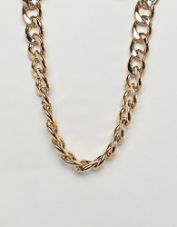 ASOS DESIGN necklace with heavyweight link chain in gold - Gold