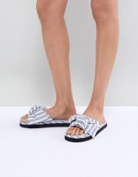 ASOS DESIGN Nene Knot Slider Slippers - Blue