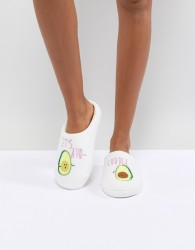 ASOS DESIGN Never Leave Avo-Cuddle Slippers - Multi