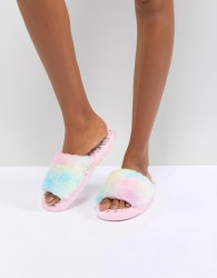 ASOS DESIGN Nights Dream Glow In The Dark Unicorn Slippers - Multi