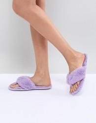 ASOS DESIGN Niya Thong Slippers - Purple