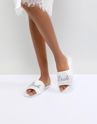 ASOS DESIGN Nuptials Bridal Slippers - White