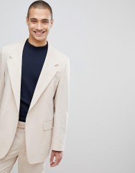 ASOS DESIGN oversized suit jacket in stone - Stone