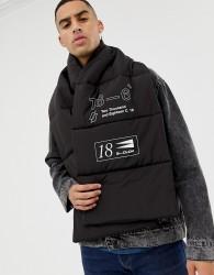 ASOS DESIGN padded scarf in black - Black