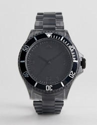 ASOS DESIGN Plastic Bracelet Watch In Black - Black