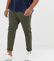 ASOS DESIGN Plus skinny chinos in khaki - Green
