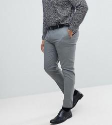 ASOS DESIGN Plus skinny smart trousers in grey - Grey