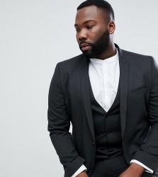 ASOS DESIGN Plus Skinny Suit Jacket In Charcoal - Grey